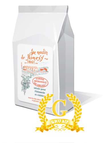 Farine artisanale d'excellence extra fine gruau 1 kg